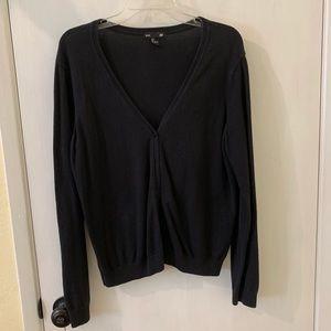 Black Button Up Sweater Cardigan